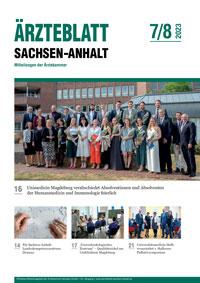 Titelseite der aktuellen Ausgabe des Ärzteblattes Sachsen-Anhalt